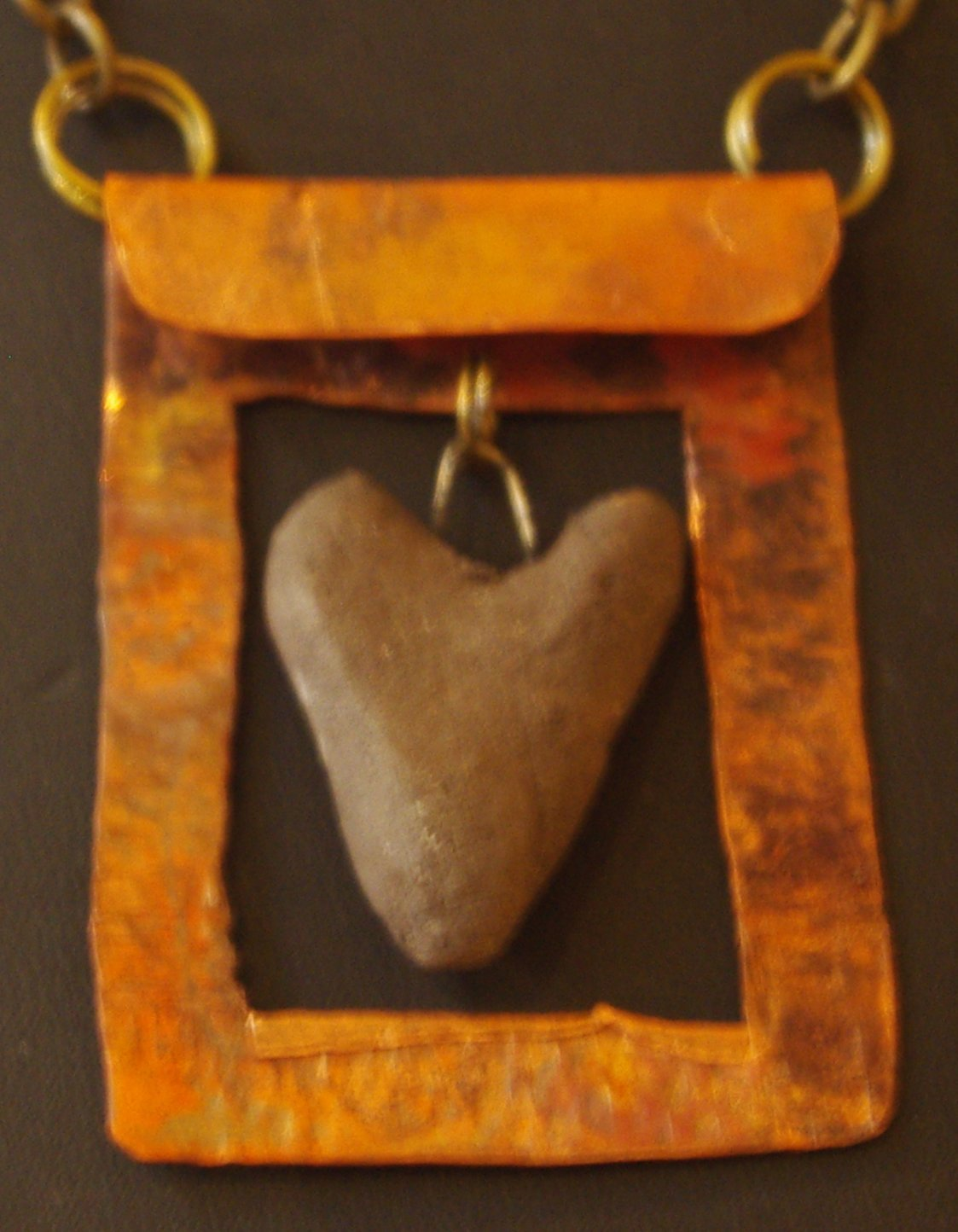 Framed Heart Necklace